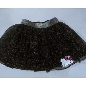 Hello Kitty Dotted Metallic Black Skirt L
